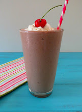 Photo: Chocolate Protein Milkshake - A creamy, thick, healthy milkshake made with greek yogurt, protein powder and cocoa powder.  http://www.peanutbutterandpeppers.com/2013/05/06/chocolate-milkshake-giveaway/  #proteinshake   #chocolatedrink   #chocolatemilkshake   #yogurt   #smoothie   #healthyrecepies