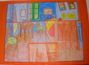 """Photo: Composición Grupal Van Gogh """"La Habitación de Arlés"""" 5ºC"""