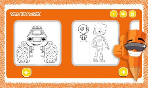 Download Free Coloring Book Blaze With Monster Machine For PC On Windows And Mac Apk Screenshot