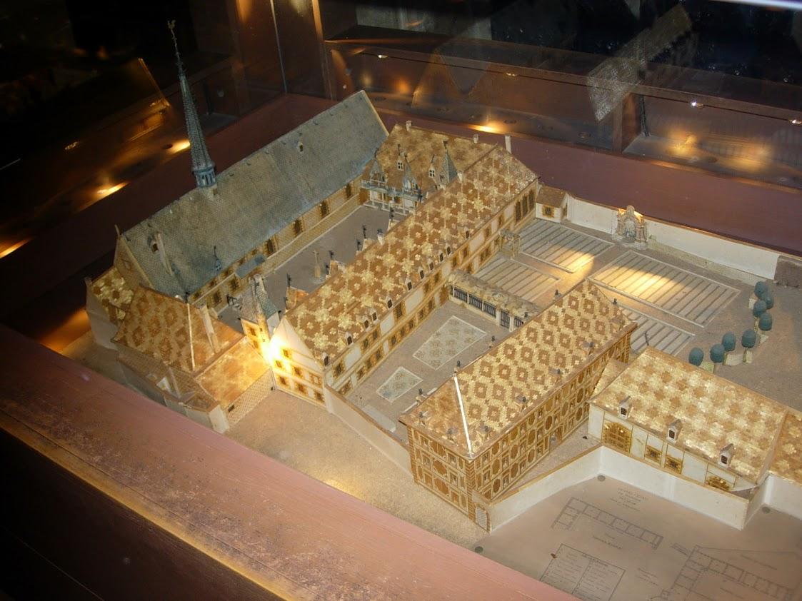 Maquette de l'Hôtel-Dieu à Beaune
