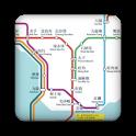 Hong Kong MTR subway map icon