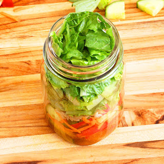 Simple Paleo Salad-in-a-Jar with Mustard Vinaigrette