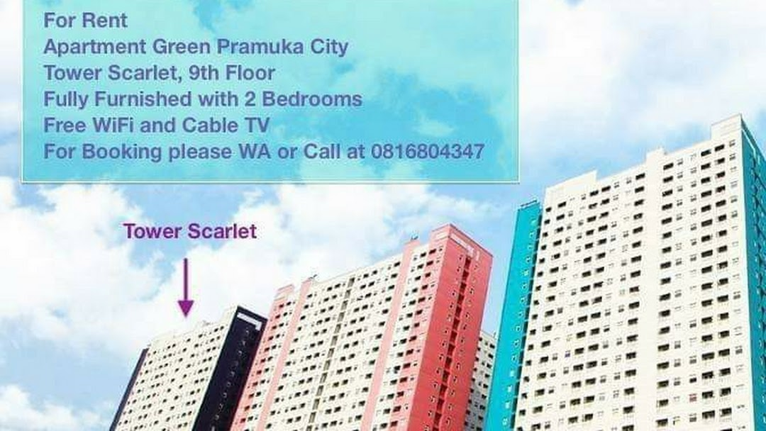 Apartment Green Pramuka Tower Scarlet Diatas Mall Furnished Apartment Building