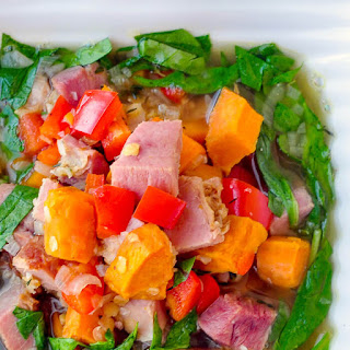 Ham Sweet Potato and Spinach Soup Recipe