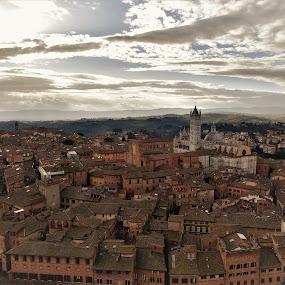 Siena dall'alto by Francesco Benettolo - City,  Street & Park  Vistas ( vista dall'alto, città, siena, panorama, paesaggio )