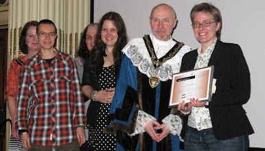Photo: Sapphist Writers receive their award