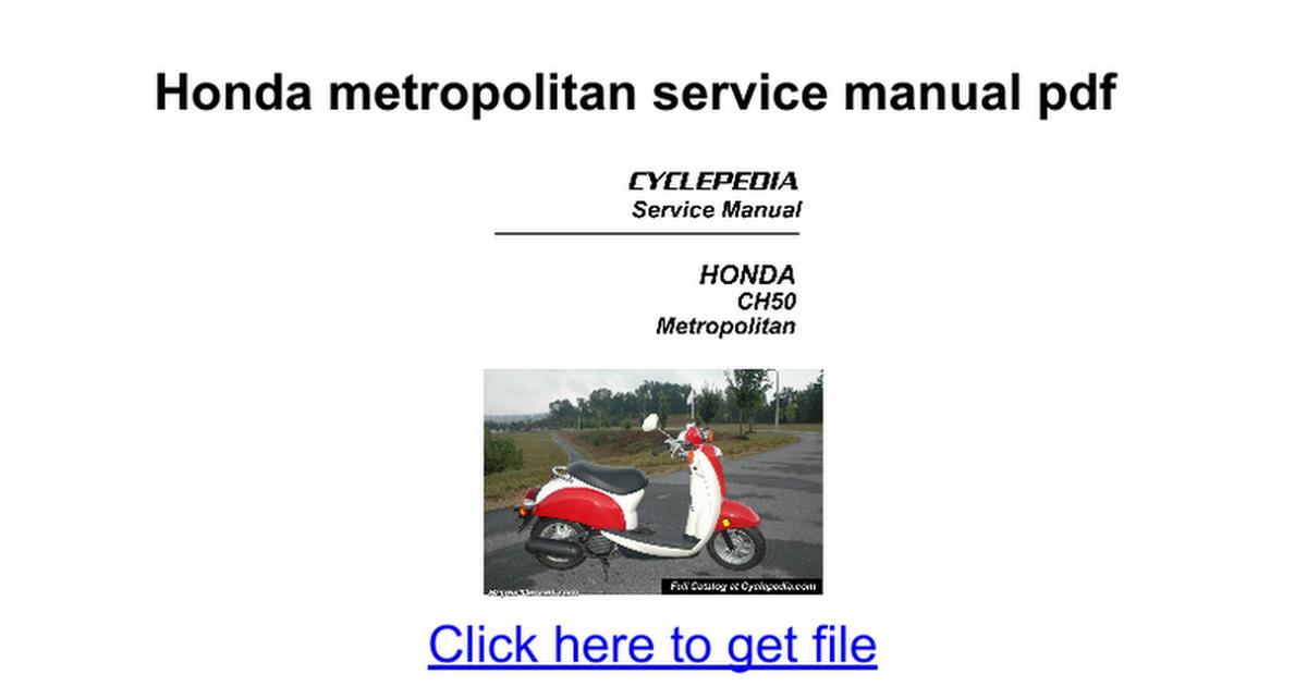 honda metropolitan service manual pdf google docs