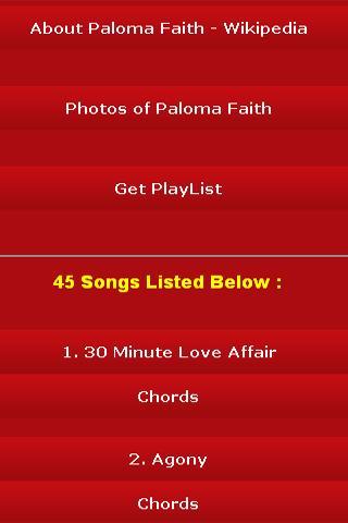 android All Songs of Paloma Faith Screenshot 2