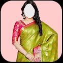 Fashion Women Saree Photo Suit Free icon