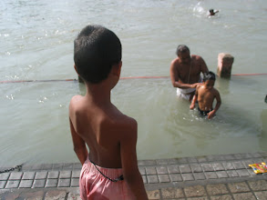 Photo: holy bath at Haridwar