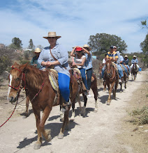 Photo: Heading back to the ranch, led by Head Teacher, Juaniz Feb. 2013
