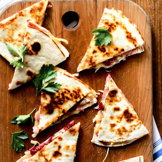 Turkey Cranberry Quesadillas With Ham + Brie