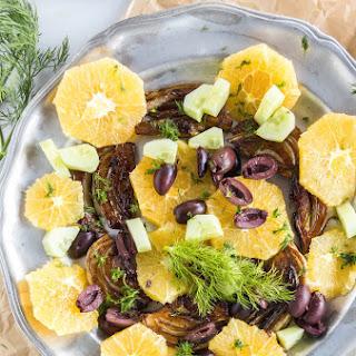 Roasted Fennel Orange Olive Salad