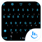 Keyboard Theme Flat Black Blue icon