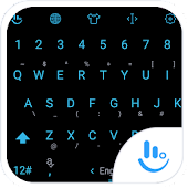 Keyboard Theme Flat Black Blue