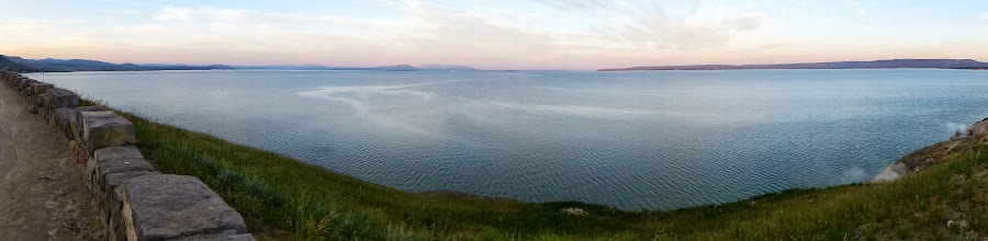 Photo: At 132 square miles, Yellowstone Lake is the largest lake at high elevation