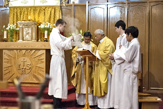 Photo: March 30th, 2013 - Guardian Angels church, Vancouver BC  Father Rudy D'Souza doing Service for the Easter Mass Service ceremony. Copyright Adrian Geronimo