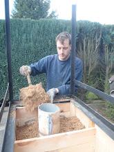 Photo: Toevoegen van een isolatie op basis van vermiculiet en leemslip