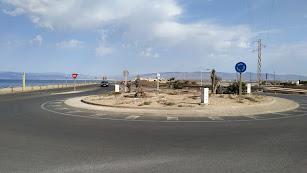Rotonda de entrada al barrio de La Fabriquilla.