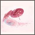 桜吹雪の街