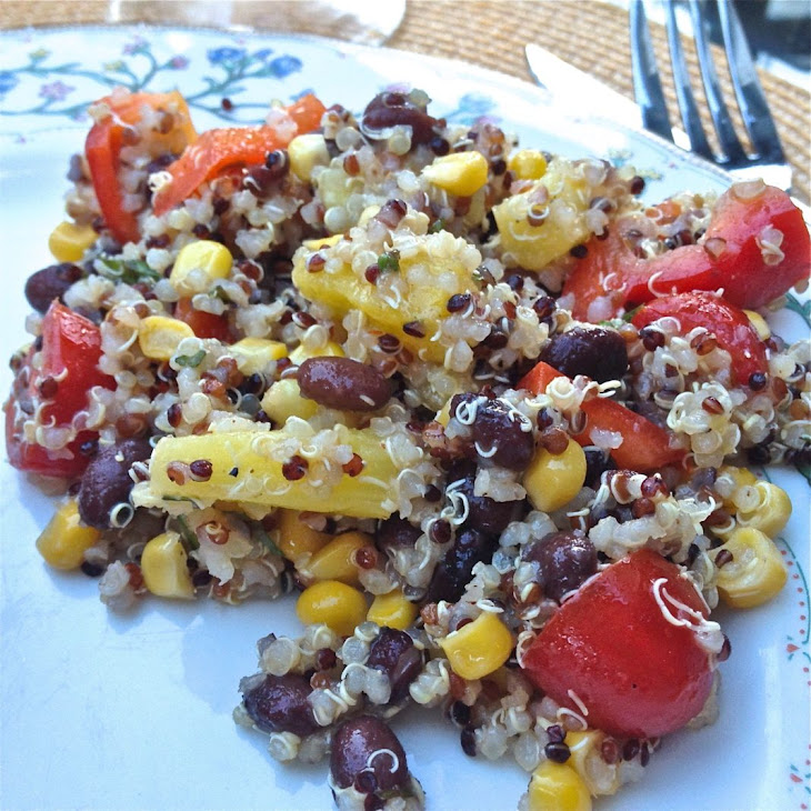 Quinoa Salad with Black Beans, Corn, Red Peppers and Pineapple Recipe