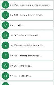 Complete Medical Abbreviations screenshot 7