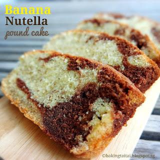 Banana Nutella Pound Cake Recipe