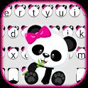 Cute Bowknot Panda Keyboard Theme icon