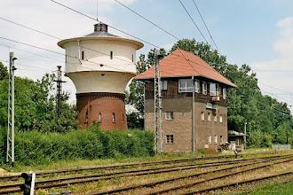 Photo: Wieża ciśnień i nastawnia {Jaworzyna Śląska; 2003-06-22}