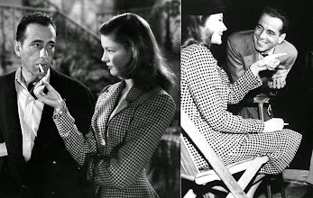 Photo: Bogart & Bacall no set e fora dele. À Beira do Abismo (The Big Sleep)