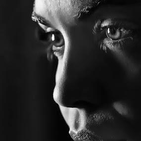 Clance by Tasos Triantafyllou - Black & White Portraits & People ( sexy, black and white, woman, bw, no colore, pretty, eyes,  )