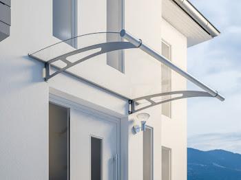 Pultbogenvordach XL, Edelstahl