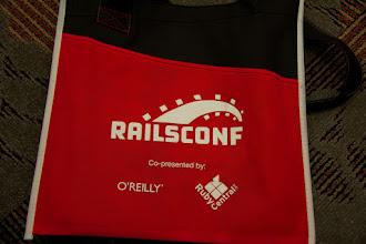 Photo: Close up of the RailsConf bag