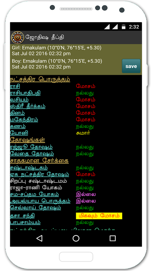 Astrology in Tamil Jyothisham- screenshot