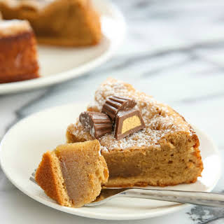 3 Ingredient Flourless Peanut Butter Cake.