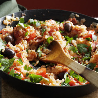 Baked Salami and Tomato Risotto