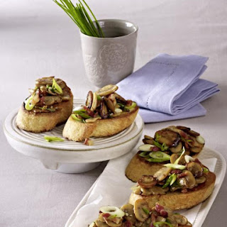 Mushroom Bacon Crostini.
