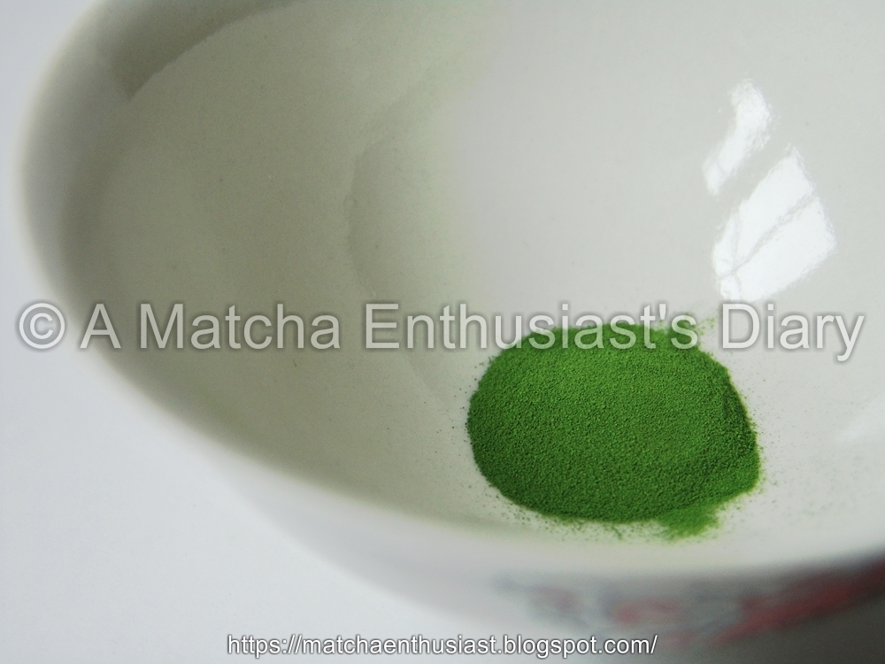 Appearance of the Matcha powder Awaraku freezed-dried Matcha
