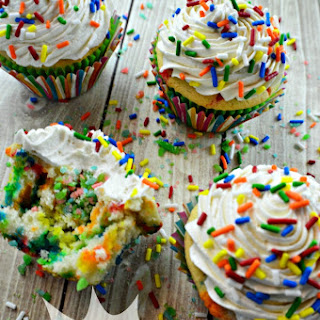 Firecracker Funfetti Cupcakes with Flour Frosting