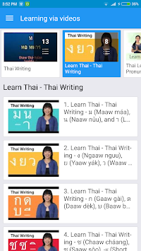 Thai Alphabet, Thai Letters Writing image