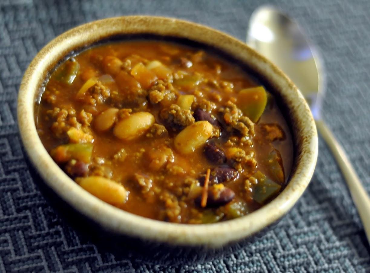 Three Bean Chili with Homemade Chili Seasoning