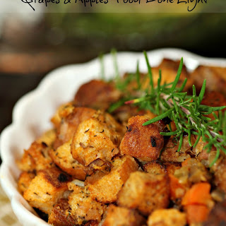 Smoky Ciabetta Stuffing with Fennel, Grapes and Apples