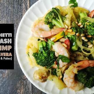 Spaghetti Squash Shrimp Prima Vera (low carb, Paleo)