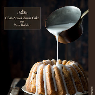 Chai-Spiced Bundt Cake with Rum Raisins