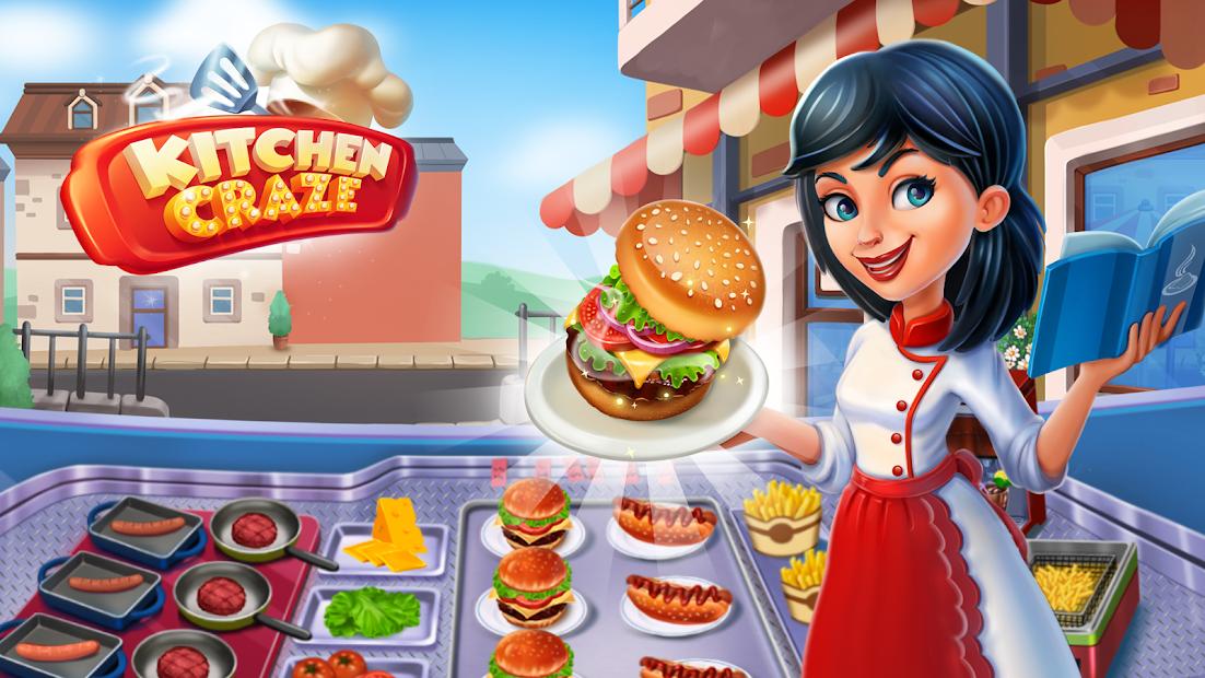 Kitchen Craze: Food Restaurant Chef Cooking Games Android App Screenshot