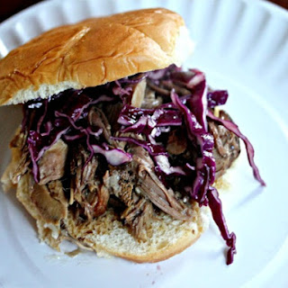 Slow-Cooker Kalua Pork Sandwiches With Crispy Asian Slaw.