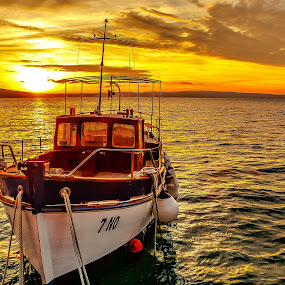 boat and sunset by Eseker RI - Transportation Boats (  )