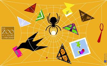 "Photo: A website landing page for Halloween based on Charley Harper's ""Visit My Website."""