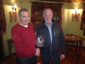 Photo: Club Person of the Year 2014 Shane Reynolds recieves his award from Noel Mc Closkey