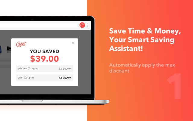 Coupert - Automatic Coupon Finder & Cashback